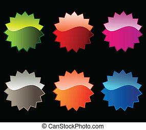 pegatinas, colorido