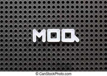 pegboard, mot, quantity), couleur, (abbreviation, moq,...
