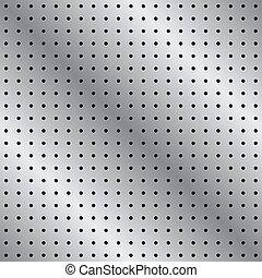 pegboard, patrón, metal, seamless, plano de fondo
