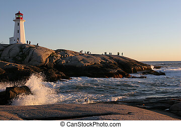 Peggy´s Cove at sunset