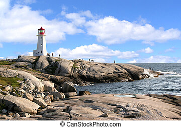 peggy, anse, phare, nouvelle-écosse, canada