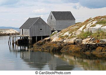 Peggy's Cove fishing shacks