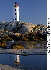 Peggy\\\'s Cove Lightho - Verticle Framing Of Peggy\\\'s...