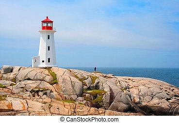 Peggys Cove Lighthouse, in Nova Scotia, Canada, is said to...