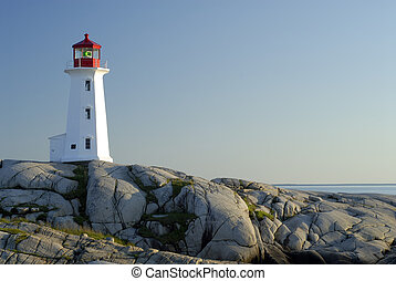 Peggy\\\'s Cove Lighthouse, Nova Scotia, Canada