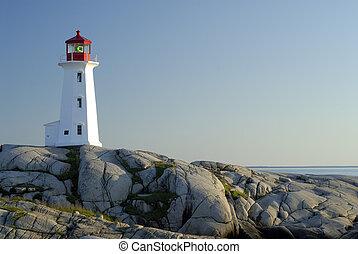 Peggy\\\'s Cove Lighthouse, Nova Scotia, Canada