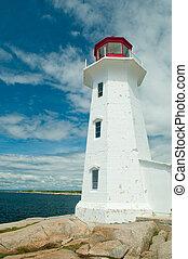 The famous lighthouse at Peggy's Cove, Nova Scotia, Canada