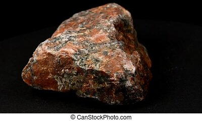 pegmatite on a turn table