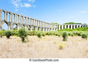 Pegoes Aqueduct, Estremadura, Portugal
