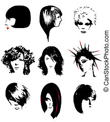peinado, mujeres