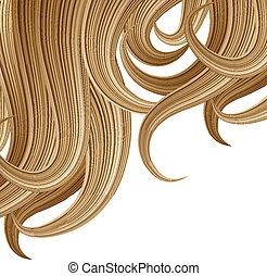 peinado, y, haircare, diseño, plantilla