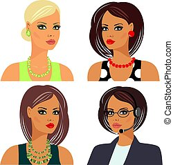 peinados, maquillaje, accesorios
