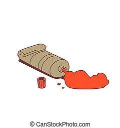peindre tube, rouges