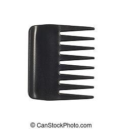 peine de pelo, negro, plástico