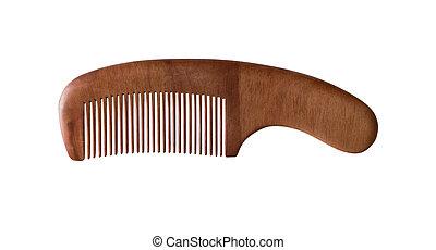 peine, madera, aislado