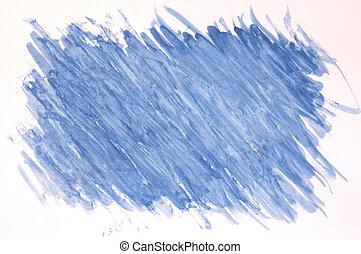 peint, arrière-plan bleu