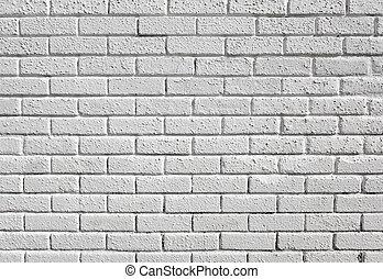 peint, arrière-plan., vide, brique blanche, mur