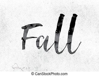 peint, automne, concept, encre