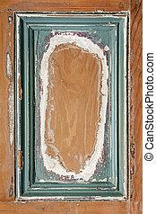 peint, cadre, bois, vieux, fond