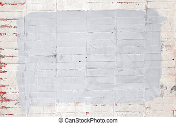 peint, cadre, peinture, brique, mur blanc