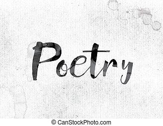 peint, concept, poésie, encre