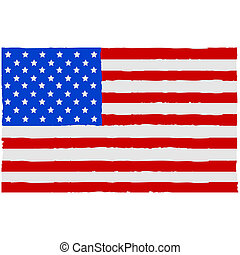 peint, drapeau, usa