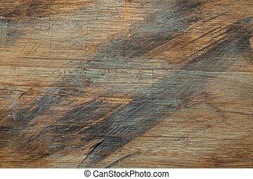 peint, et, égratignure, texture bois