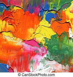 peint, résumé, acrylique, fond