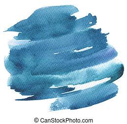 peint, résumé, aquarelle, arrière-plan., papier, texture.