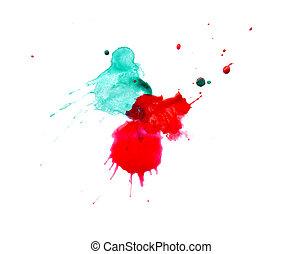 peint, résumé, tache, art, water-coloured