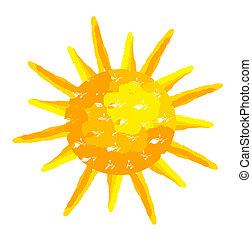 peint, soleil