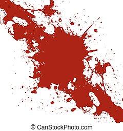 peinture, éclaboussure, illustration, arrière-plan., vecteur, conception, encre, rouges