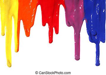 peinture, égouttement