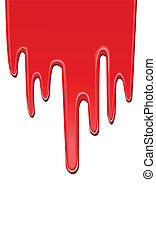 peinture, égouttement, rouges