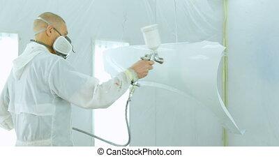 peinture, 4k, électrique, mécanicien, parties,...