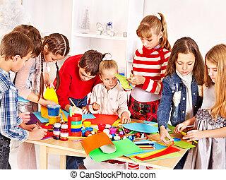 peinture,  art, école, enfant