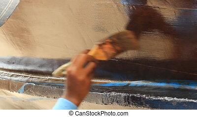 peinture, bateau