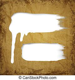 peinture, blanc, égouttement