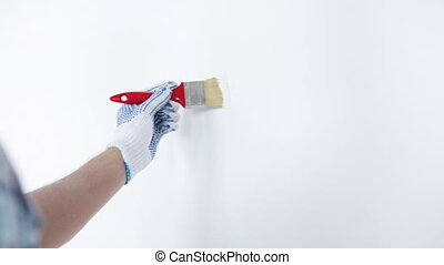 peinture, blanc, peinture, homme