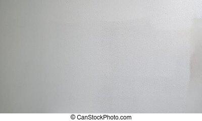 peinture, blanc, plafond, mur, peindre cylindre