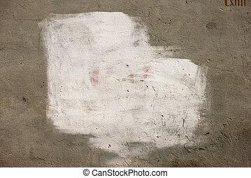 peinture blanche, sur, mur