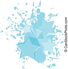 peinture bleue, art, étoiles