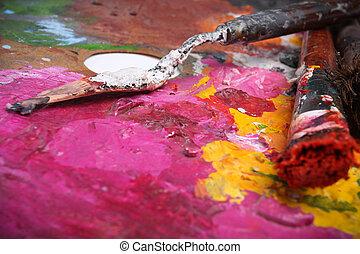 peinture, brosse