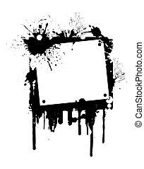 peinture, cadre, grunge