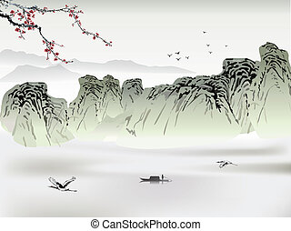 peinture, chinois