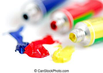 peinture, couleurs, primaire