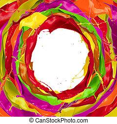peinture, eclabousse, cercle, à, gratuite, espace, pour, texte