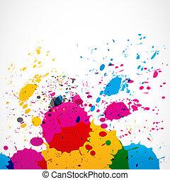 peinture eclabousse, grunge, coloré