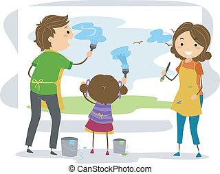 peinture, famille