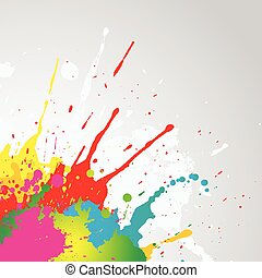 peinture, grunge, splat, fond